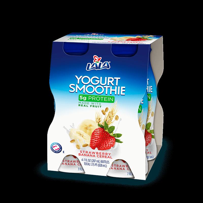 Strawberry Banana Cereal LALA® Yogurt Smoothie