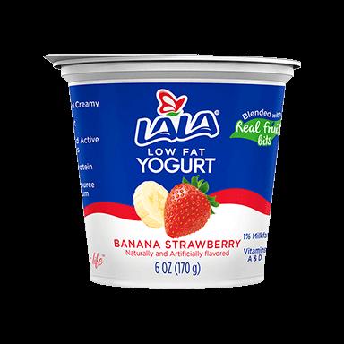 6 oz Strawberry Banana LALA® Yogurt Blended  - LALA Foods